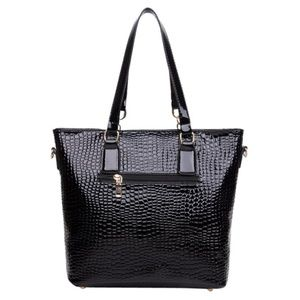 My Bag Lady Online Bags - Embossed Croc Faux Patent Leather Bag Set